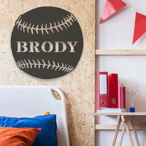 Baseball - Personalized Metal Sign