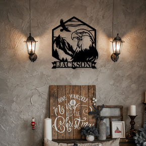 Eagle Mountain Scene Monogram