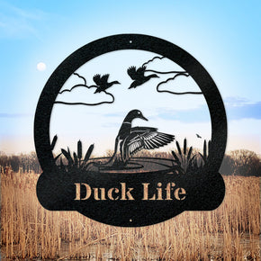 Great Outdoor Duck Monogram Metal Sign
