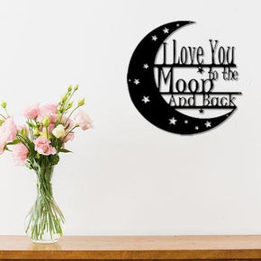 I Love You to the Moon & Back Metal Sign