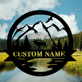 Great Outdoor Elk Monogram