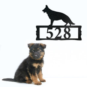 German Shepherd Metal Address Plaque