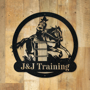 Barrel Racing Monogram