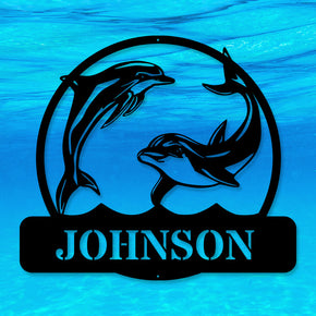 Dolphin Name Monogram