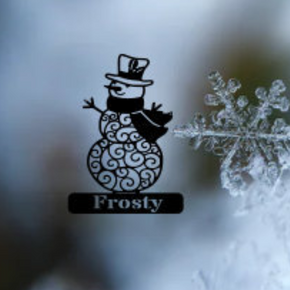 Personalized Snowman Metal Wall Art