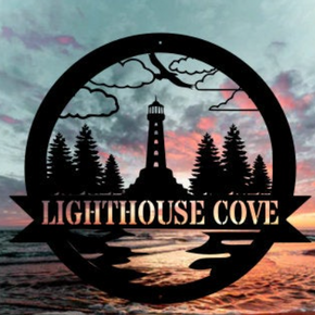 Lighthouse Metal Sign