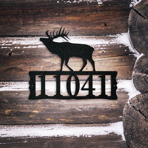 Elk Metal Address Plaque