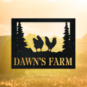 Farm Chicken Sign