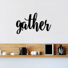 Gather - Metal Sign
