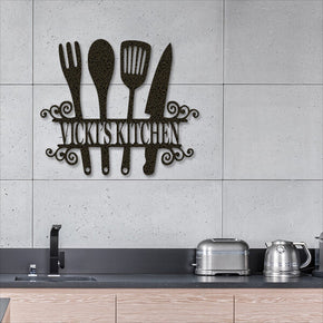 Kitchen Sign - Personalized Metal Sign