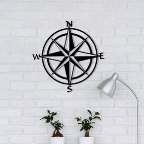Compass Nautical Metal Sign - Nautical Compass