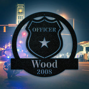 Police Officer Monogram