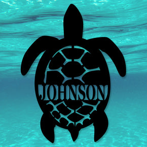 Sea Turtle Name Monogram
