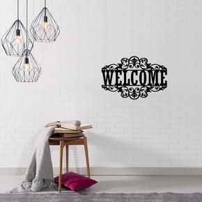 Rustic Welcome - Metal Sign