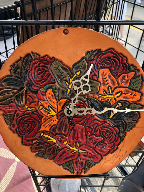 Floral Heart Clock