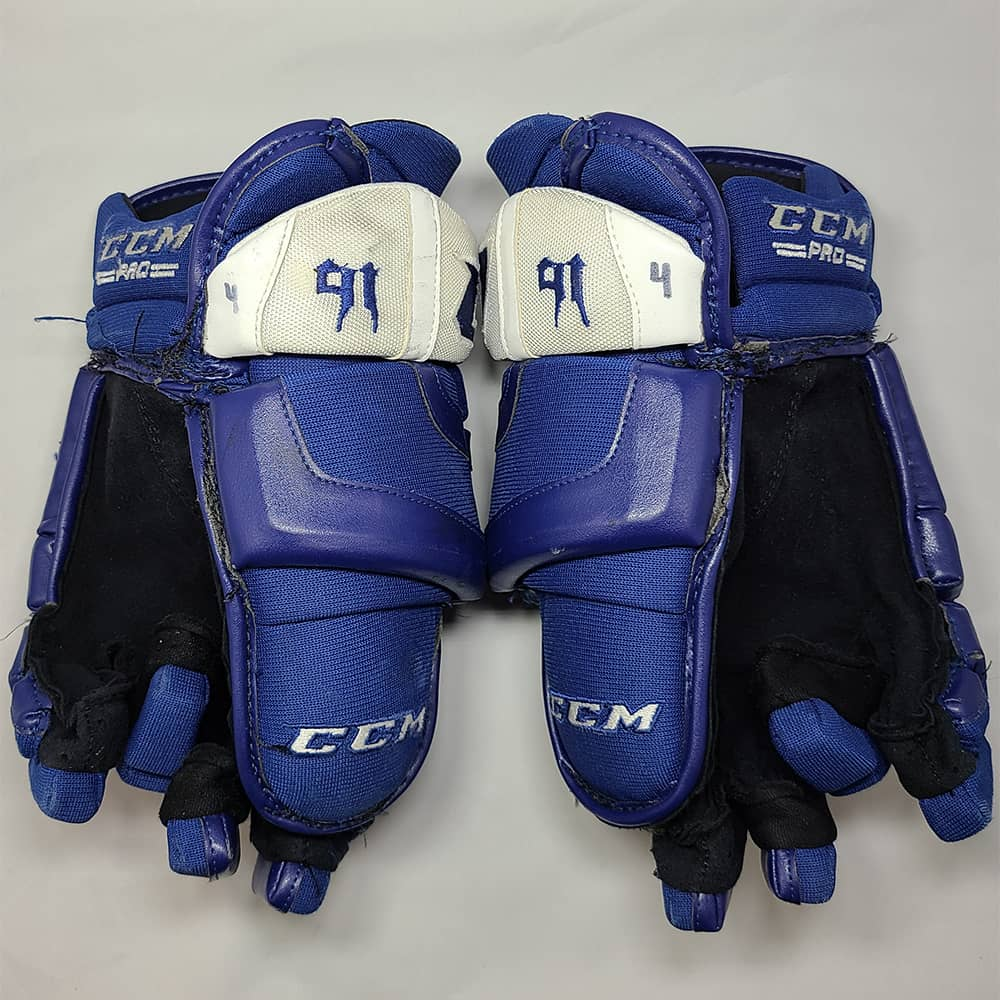 John Tavares 2018-19 Toronto Maple Leafs Game Used Gloves - GameWornDirect