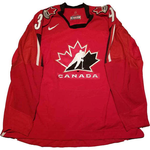 John Tavares 2007 Team Canada Selection Camp Red Game Worn Jersey - GameWornDirect