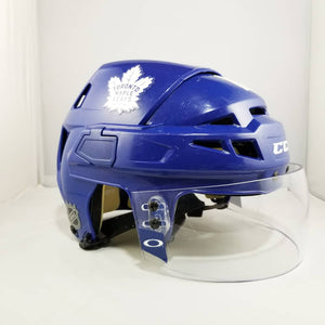 Patrick Marleau 2017-18 Toronto Maple Leafs Game Used Blue Home Helmet - GameWornDirect