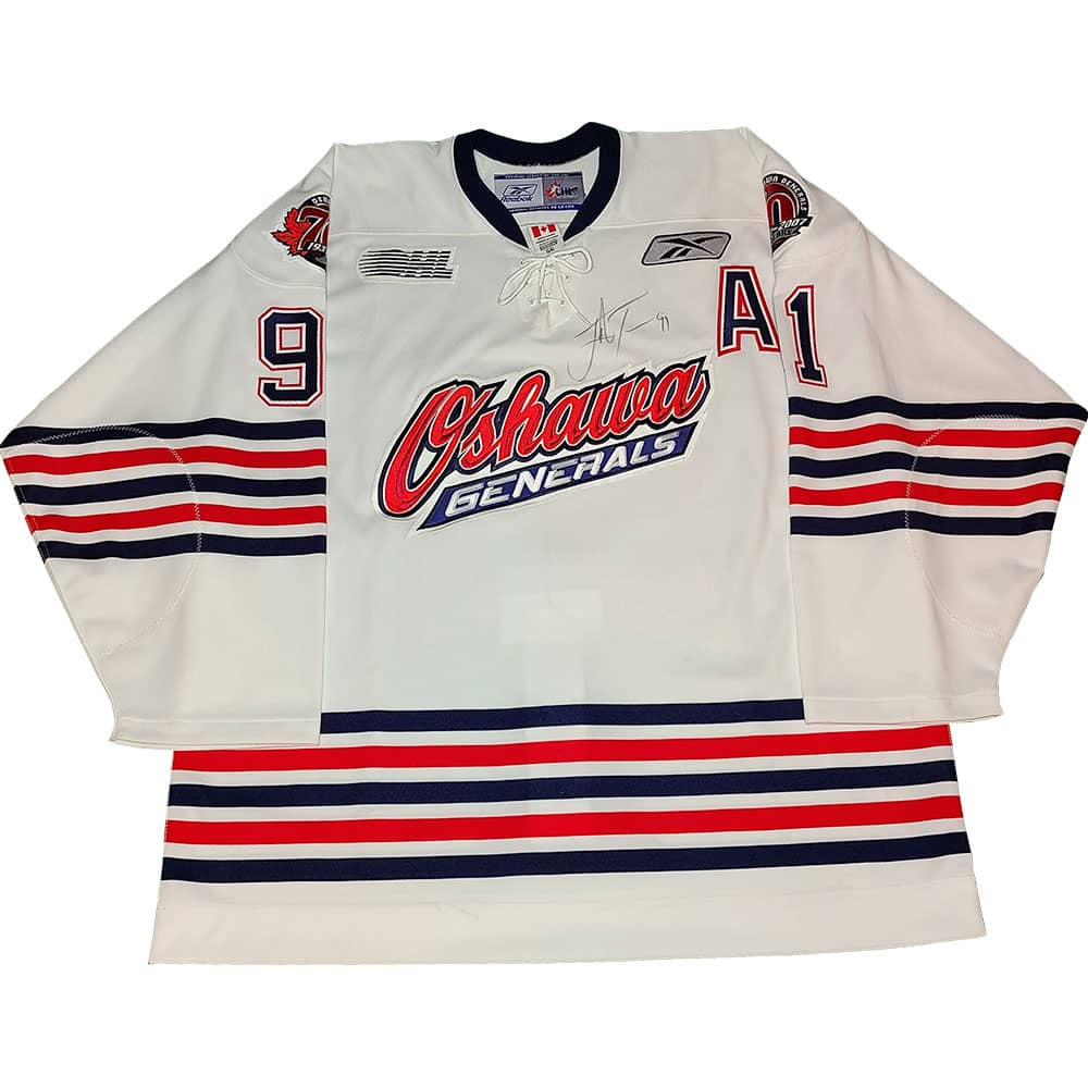 John Tavares 2007-08 Oshawa Generals Game Used Jersey - GameWornDirect