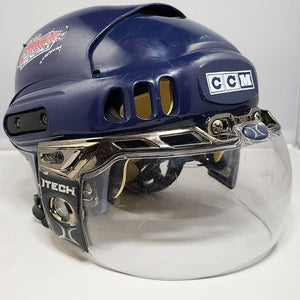 John Tavares 2007 Oshawa Generals Game Used Navy Helmet - GameWornDirect