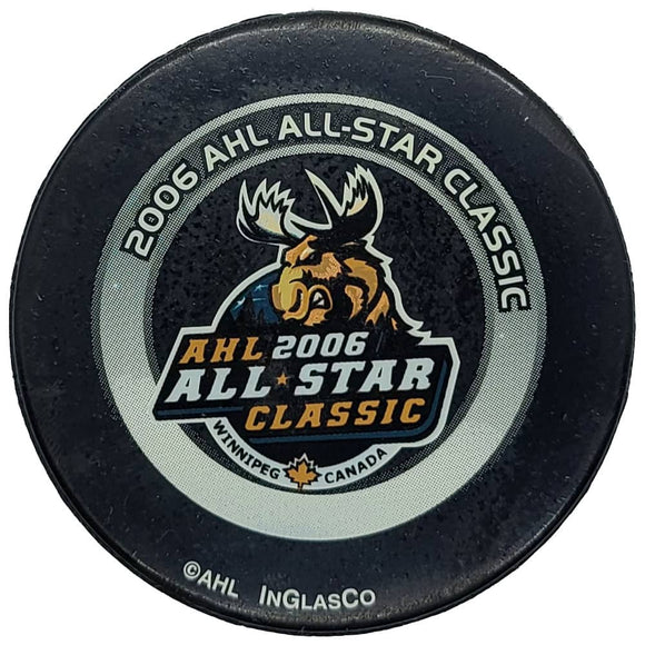 2006 AHL All-Star Classic Game Used Puck - Winnipeg - GameWornDirect