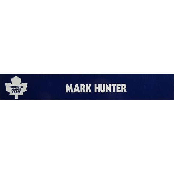 Mark Hunter Toronto Maple Leafs Official Locker Room Nameplate - GameWornDirect