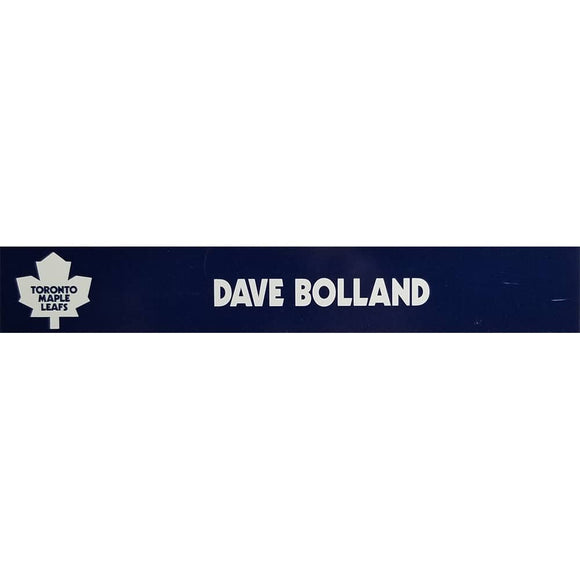 Dave Bolland Toronto Maple Leafs Official Locker Room Nameplate - GameWornDirect