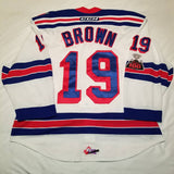 Logan Brown 2017-18 Kitchener Rangers Game Worn Jersey - GameWornDirect