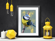 Load image into Gallery viewer, Blue Tit Bird Art Print & Canvas