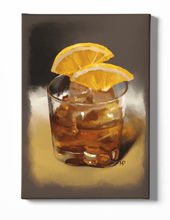 Load image into Gallery viewer, A Glass of Whiskey Art Canvas