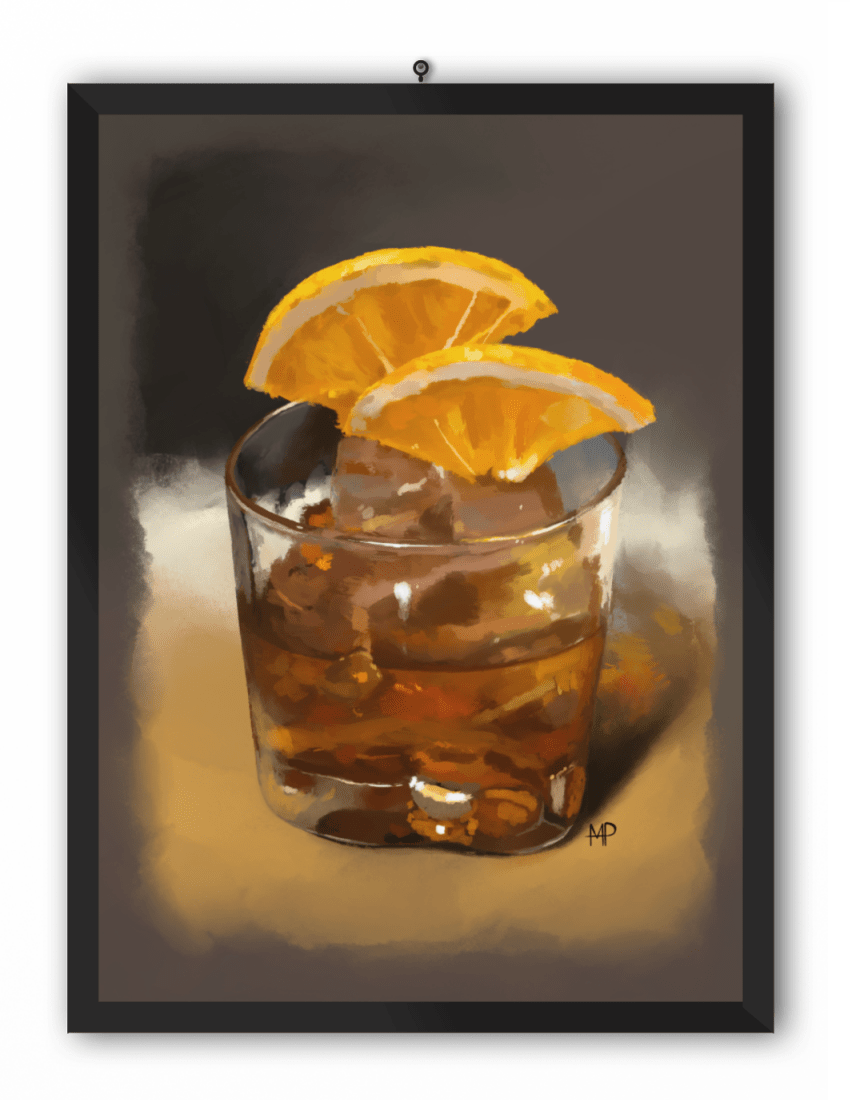 A Glass of Whiskey Art Print