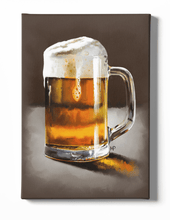 Load image into Gallery viewer, A Pint of Beer Canvas Art