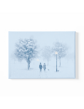Load image into Gallery viewer, A Walk in the Snow Scenery Canvas Art