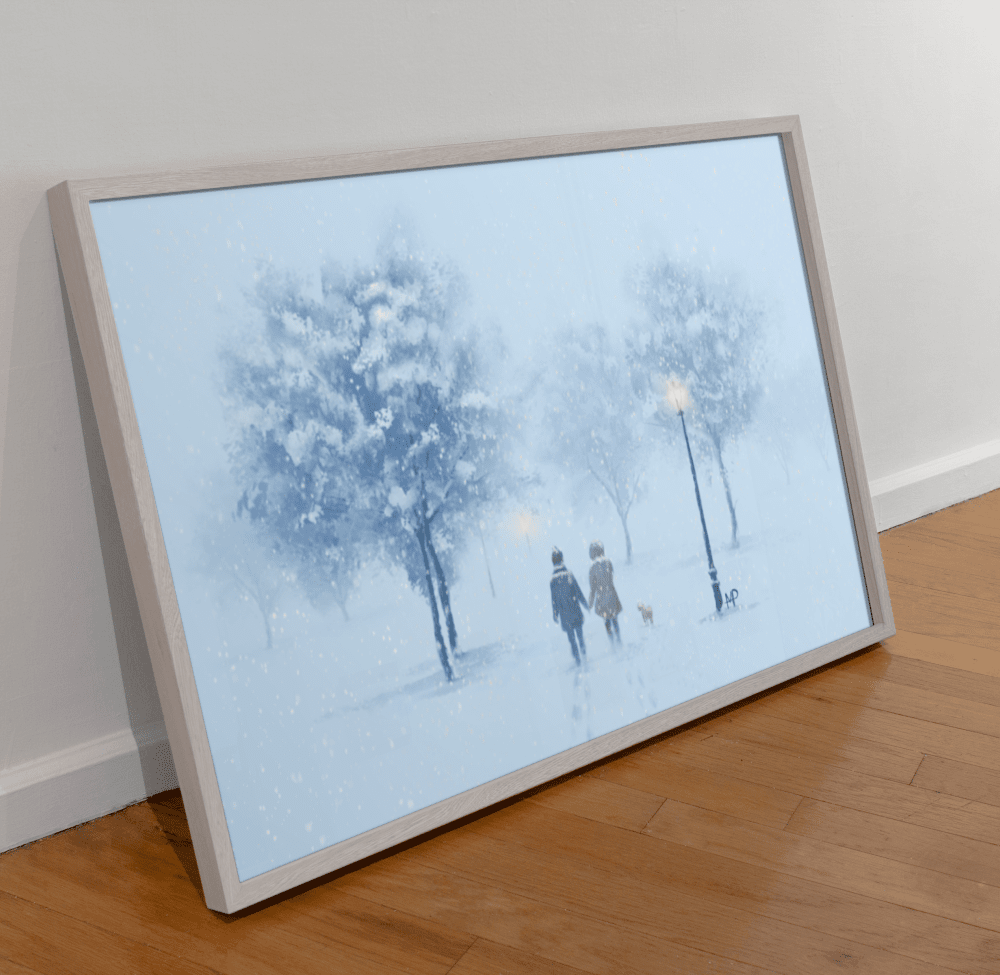 A Walk in the Snow Scenery Art Print