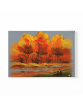 Load image into Gallery viewer, Autumn Snuggle Scenery Canvas Art