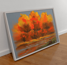 Load image into Gallery viewer, Autumn Snuggle Scenery Art Print