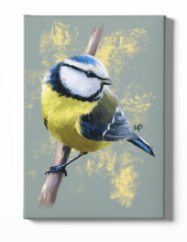 Load image into Gallery viewer, Blue Tit Bird Canvas Art