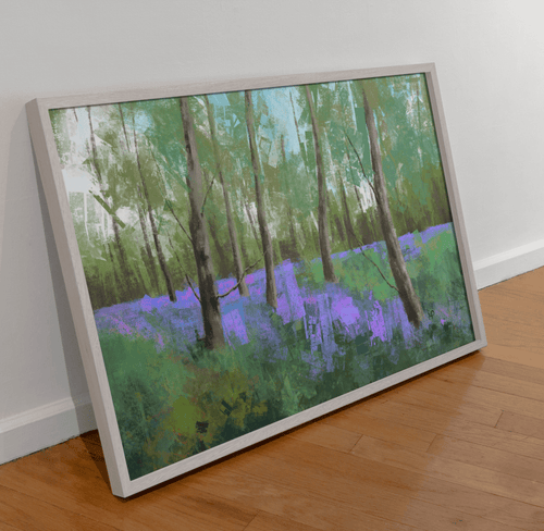 Bluebells Scenery Art Print