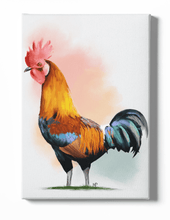 Load image into Gallery viewer, Cockerel Bird Canvas Art