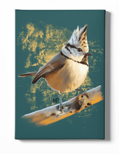 Load image into Gallery viewer, Crested Tit Bird Canvas Art