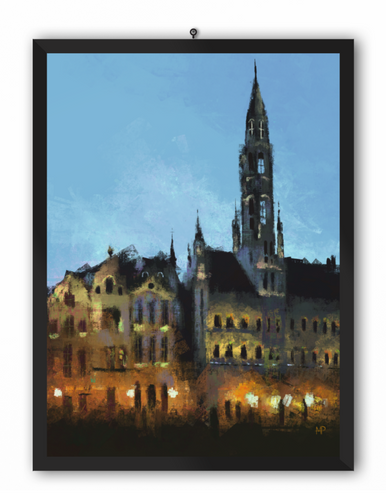 Grand Place Brussels Scenery Art Print