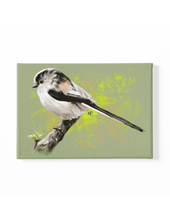 Load image into Gallery viewer, Long-Tailed Tit Bird Canvas Art