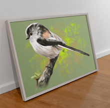 Load image into Gallery viewer, Long-Tailed Tit Bird Art Print