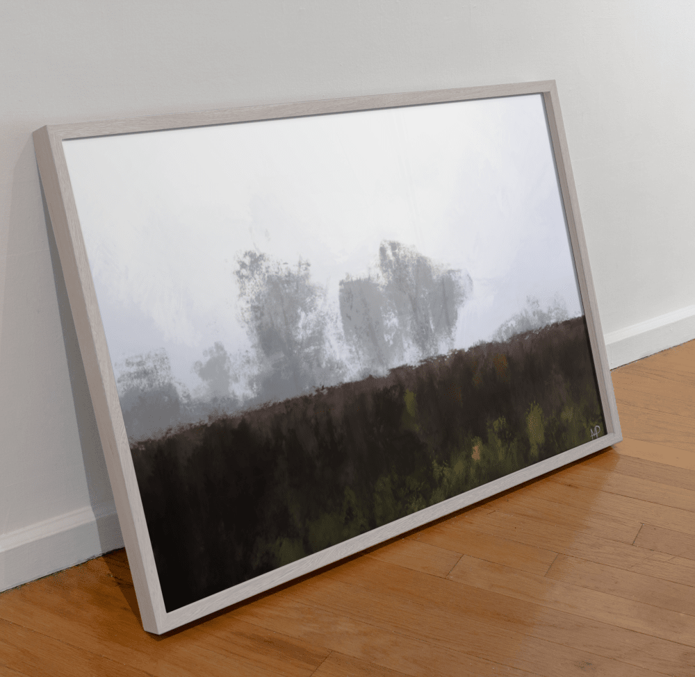 Morning Fog Scenery Art Print