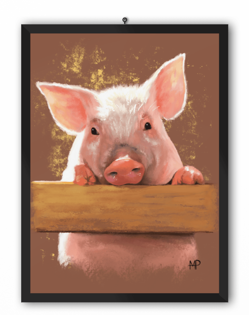 Piggy Animal Art Print