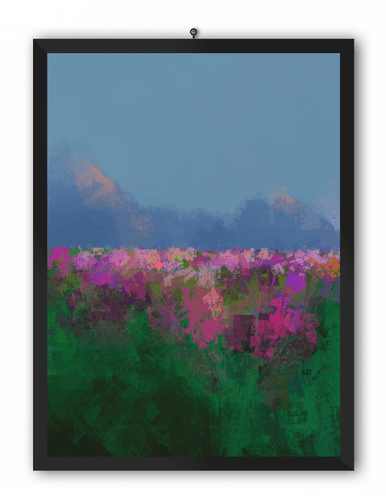 Spring in Bloom Scenery Art Print
