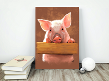 Load image into Gallery viewer, Piggy Animal Art Print & Canvas - Mat Price Art | Original Artwork, Wall Art & Art Prints
