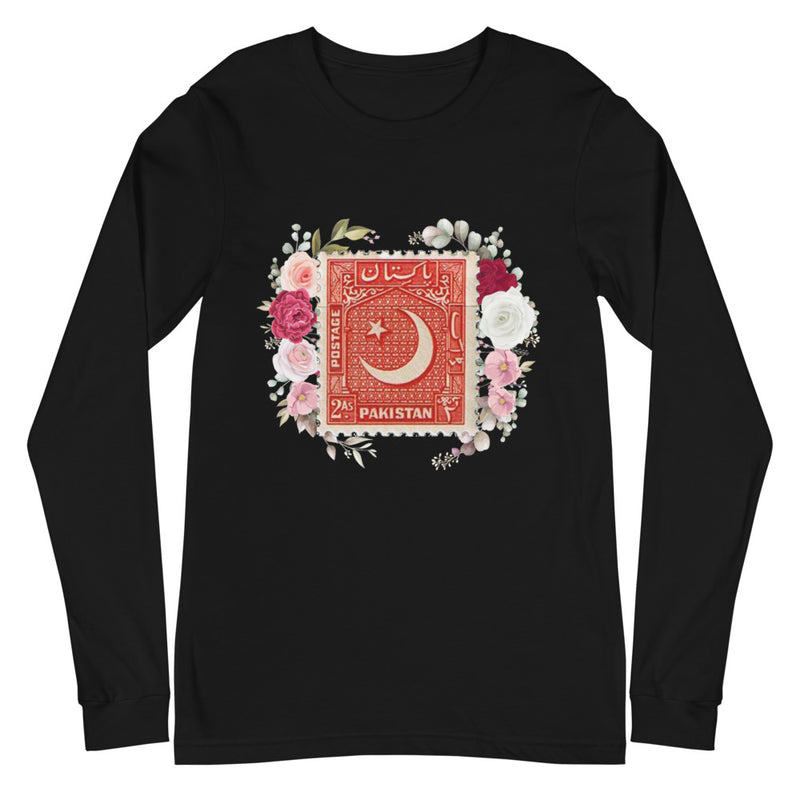 Men's Pakistan Crescent Stamped Long-Sleeve