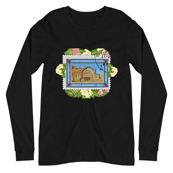 Women's Afghanistan Pride Stamped Long-Sleeve