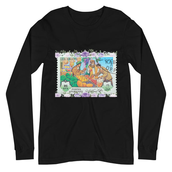 Women's Afghanistan Bazaar Stamped Long-Sleeve